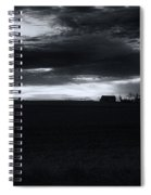 Amish Sunrise Black And White Spiral Notebook