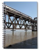 Amtrak Train Riding Atop The Benicia-martinez Train Bridge In California - 5d18829 Spiral Notebook