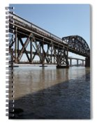 Amtrak Train Riding Atop The Benicia-martinez Train Bridge In California - 5d18830 Spiral Notebook