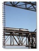 Amtrak Train Riding Atop The Benicia-martinez Train Bridge In California - 5d18837 Spiral Notebook