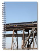 Amtrak Train Riding Atop The Benicia-martinez Train Bridge In California - 5d18839 Spiral Notebook