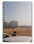 An Almost Empty Parking Lot At Surajkand Fair In India Spiral Notebook