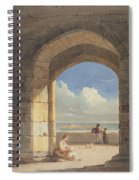 An Arch At Holy Island - Northumberland Spiral Notebook