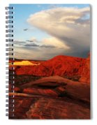 An Evening In The Valley Of Fire Spiral Notebook