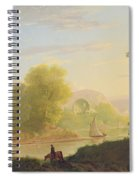 An Imaginary Coast Scene - With The Temple Of Venus At Baiae Spiral Notebook