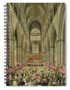 An Interior View Of Westminster Abbey On The Commemoration Of Handel's Centenary Spiral Notebook