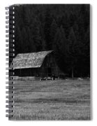 An Old Barn In Black And White Spiral Notebook
