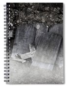 An Old Cemetery With Grave Stones And Fog Spiral Notebook