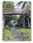 An Old Stone Bridge Over A Canal In Alleppey Spiral Notebook
