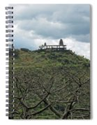 An Old Temple Building On Top Of A Hill With A Lot Of Clouds In The Sky Spiral Notebook