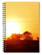 Photograph Of The White Hot Sun On An Orange Horizon With Lens Flare Spiral Notebook
