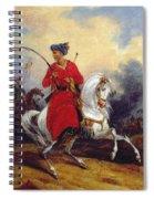 An Ottoman On Horseback Spiral Notebook