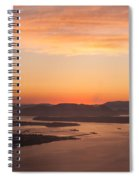 Anacortes Islands Sunset Spiral Notebook