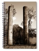 Ancient Columns By The River Spiral Notebook