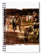 and the winner is - A vintage processed Menorca trotting race Spiral Notebook
