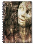 Angel Cast In Stone Spiral Notebook