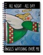 Angel Flight Poster Spiral Notebook