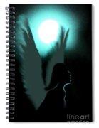 Angel Of Moonlight Spiral Notebook
