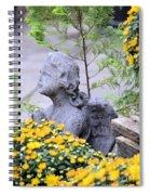 Angel Of The Garden Spiral Notebook