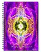 Angel Of The Sacrament Spiral Notebook