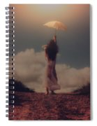 Angel With Parasol Spiral Notebook