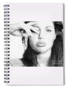 Angelina Jolie Pencil Art Spiral Notebook