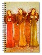 Angels Rejoicing Together Spiral Notebook