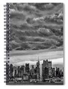 Angry Skies Over Nyc Spiral Notebook