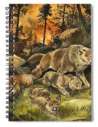 Animals United In Terror As They Flee From A Forest Fire Spiral Notebook