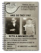 Anti-child Labor Poster Spiral Notebook