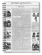 Anti-slavery Broadside Spiral Notebook