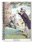 Anti-trust Cartoon, 1904 Spiral Notebook