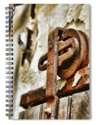 Antique - Door Rail - Rusty Spiral Notebook
