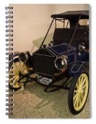 Antique Automobile With Yellow Spoke Wheels Spiral Notebook