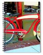 Antique Bicycle Spiral Notebook