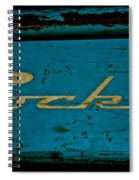 Antique Blue Wagon Spiral Notebook