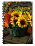 Antique Buggy And Sunflowers Spiral Notebook