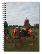 Antique Buggy In Fall Colors Spiral Notebook