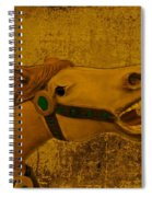 Antique Carousel Appaloosa Horse Spiral Notebook