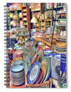 Antique Dishes Fishs Eddy New York Spiral Notebook