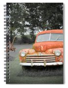 Antique Ford Car 7 Spiral Notebook
