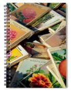 Antique French Seed Packs Spiral Notebook