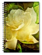 Antique Gardenia Blossom Spiral Notebook