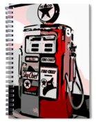 Antique Gas Pump Spiral Notebook