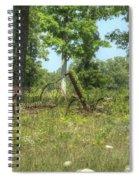 Antique Hayrake 1 Spiral Notebook