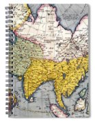 Antique Map Of Asia Spiral Notebook