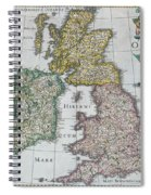 Antique Map Of Britain Spiral Notebook