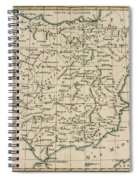 Antique Map Of Spain Spiral Notebook