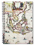 Antique Map Showing Southeast Asia And The East Indies Spiral Notebook
