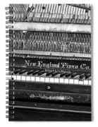 Antique Piano Black And White Spiral Notebook